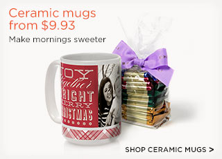 Ceramic mugs from $9.93
