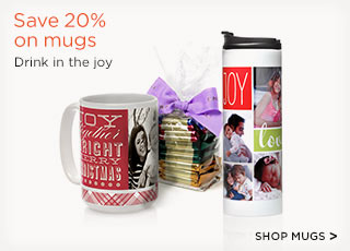 Save 20% on mugs