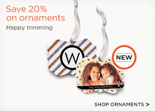 Save 20% on ornaments