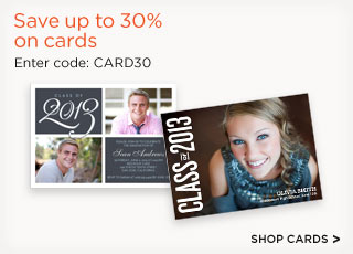 Save up to 30% on cards Enter code: CARD30