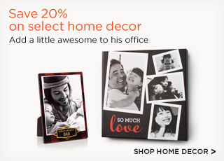 Save 20% on select home decor