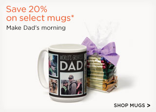 Save 20% on select mugs