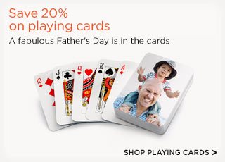 Save 20% on playing cards