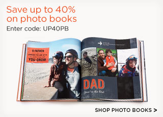 Save up to 40% on photo books