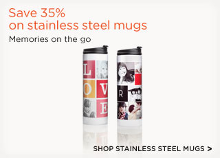 Save 35% on stainless steel mugs