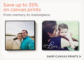 Save up to 35% on canvas prints - Shop canvas prints