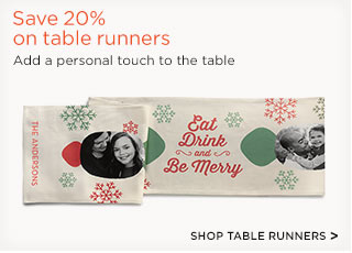 Save 20% on table runners