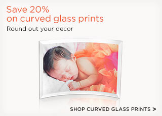Save 20% on curved glass prints - Shop curved glass prints