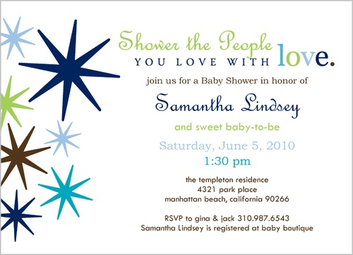 Wishing Stars Baby Shower Invitation
