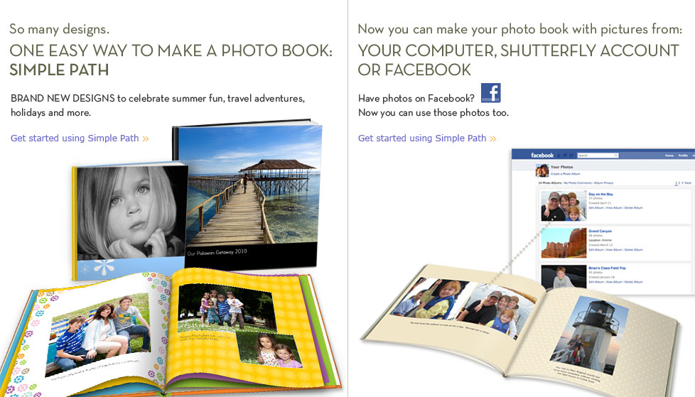 So many designs. One easy way to make a Photo Book: Simple Path