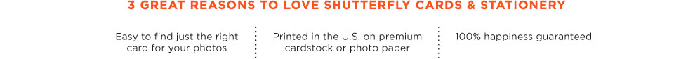 3 reasons to love shutterfly.