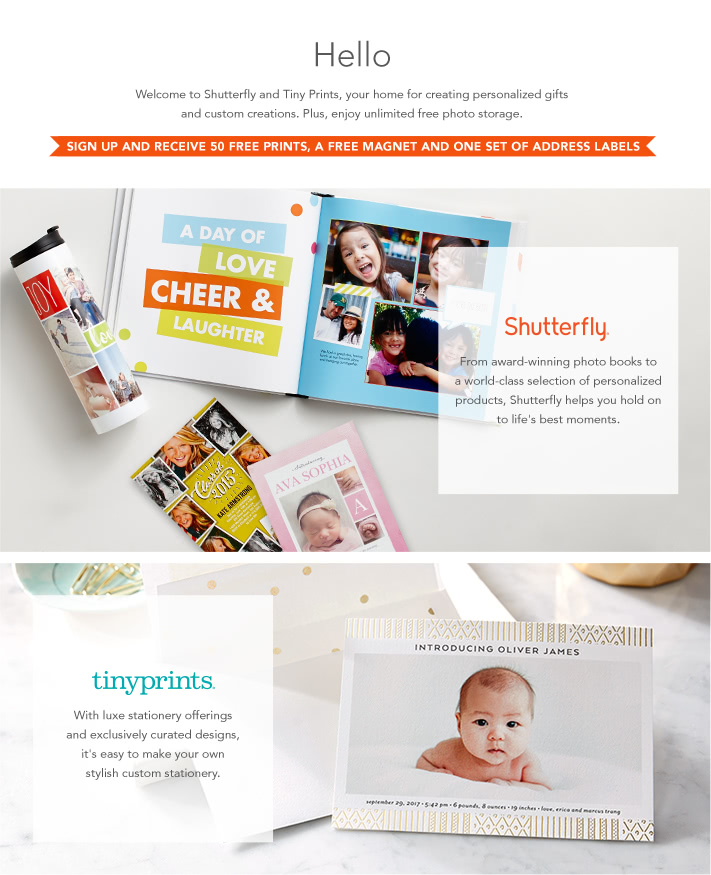 Sign up | Shutterfly