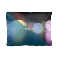 'Multi Color Lights' Pillow created using a free image from the new Shutterfly Art Library 'Abstract Photography & Art' collection