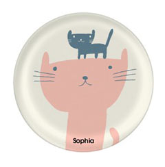 'Cat and Kitten' Plate created using a free image from the new Shutterfly Art Library 'Baby & Nursery' collection