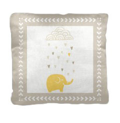 'Raining Hearts' Pillow created using a free image from the new Shutterfly Art Library 'Baby & Nursery' collection