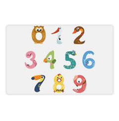 'Animal Numbers' Placemat created using a free image from the new Shutterfly Art Library 'Baby & Nursery' collection