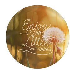 'Enjoy the Little Things' Plate created using a free image from the new Shutterfly Art Library 'Patterns & Florals' collection