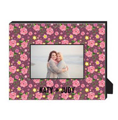 'Pink Floral' Personalized Frame created using a free image from the new Shutterfly Art Library 'Patterns & Florals' collection