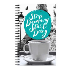 'Start Doing' Notebook created using a free image from the new Shutterfly Art Library 'Quotes' collection