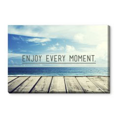 'Enjoy Every Moment' Canvas Print created using a free image from the new Shutterfly Art Library 'Quotes' collection