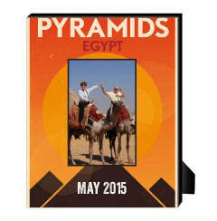 'Egypt Pyramids' Personalized Frame created using a free image from the new Shutterfly Art Library 'Travel Art' collection
