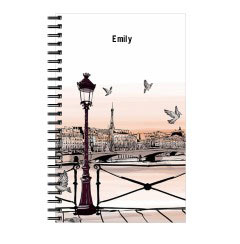 'Illustration of Paris' Notebook created using a free image from the new Shutterfly Art Library 'Travel Art' collection