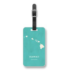 'Rustic Hawaii' Luggage Tag created using a free image from the new Shutterfly Art Library 'Travel Art' collection