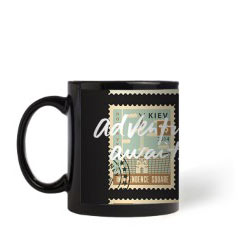 'Postage Stamps' Mug created using a free image from the new Shutterfly Art Library 'Travel Art' collection