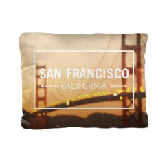 'Golden Gate Bridge at Sunset' Pillow created using a free image from the new Shutterfly Art Library 'Travel Photography & Landscapes' collection