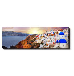 'Sunset in Santorini Greece' Canvas Print created using a free image from the new Shutterfly Art Library 'Travel Photography & Landscapes' collection