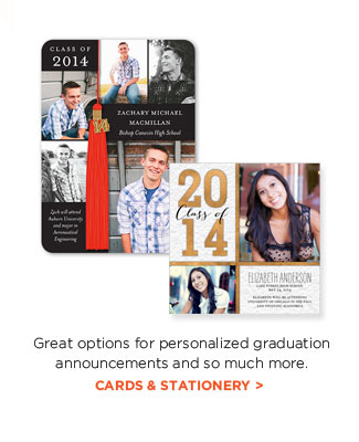 Great options for personalized graduation announcements and so much more. CARDS & STATIONERY