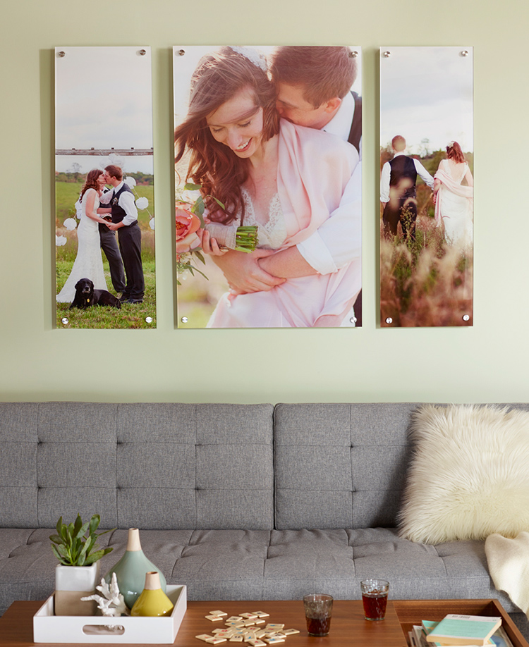 Shutterfly's acrylic prints are mounted on premium polished acrylic with aluminum hardware.