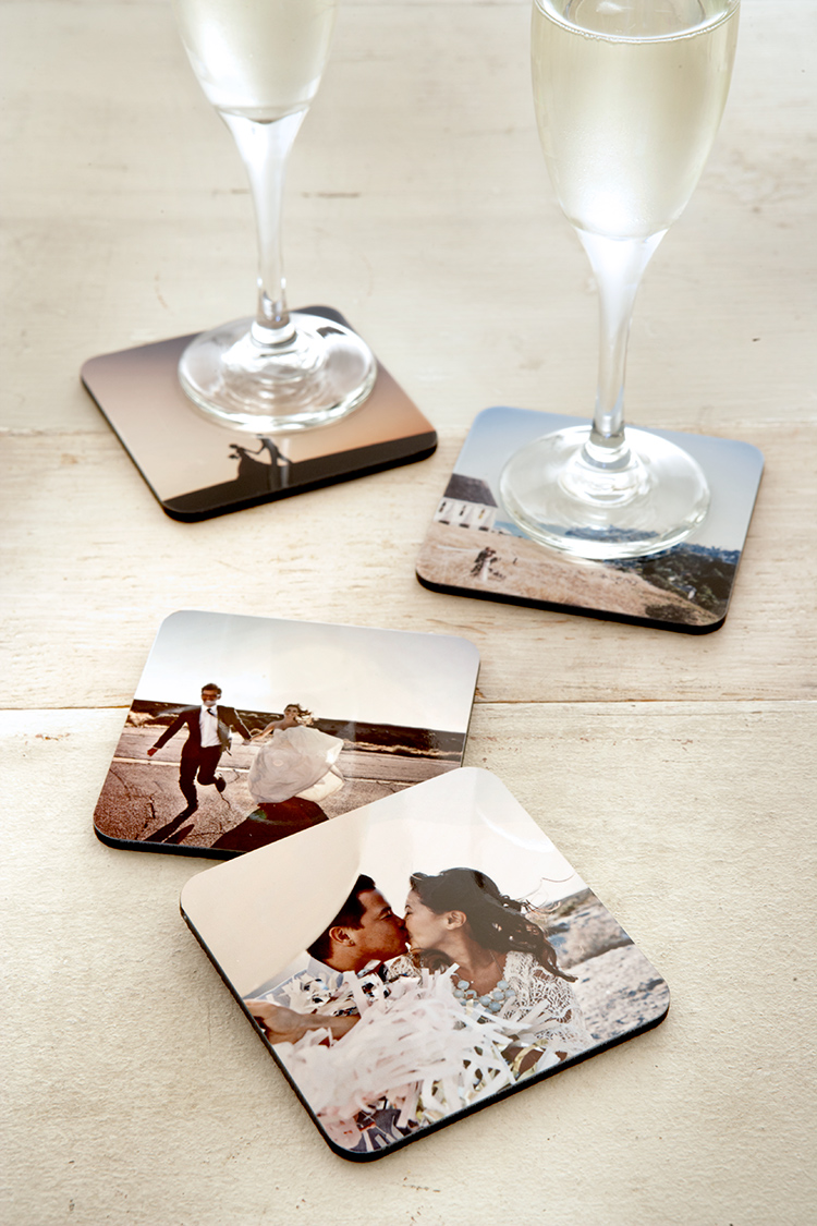 Shutterfly's photo drink coasters are a stylish way to display your favorite memories or give a unique gift.