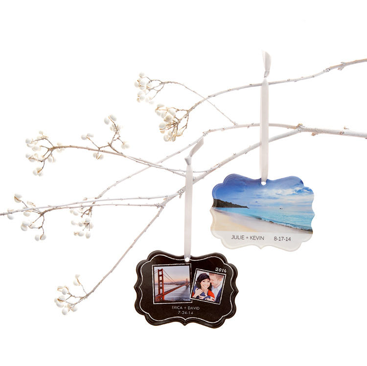 Shutterfly offers Christmas ornaments in a variety of styles and designs. Create a personalized ornament for the holidays.