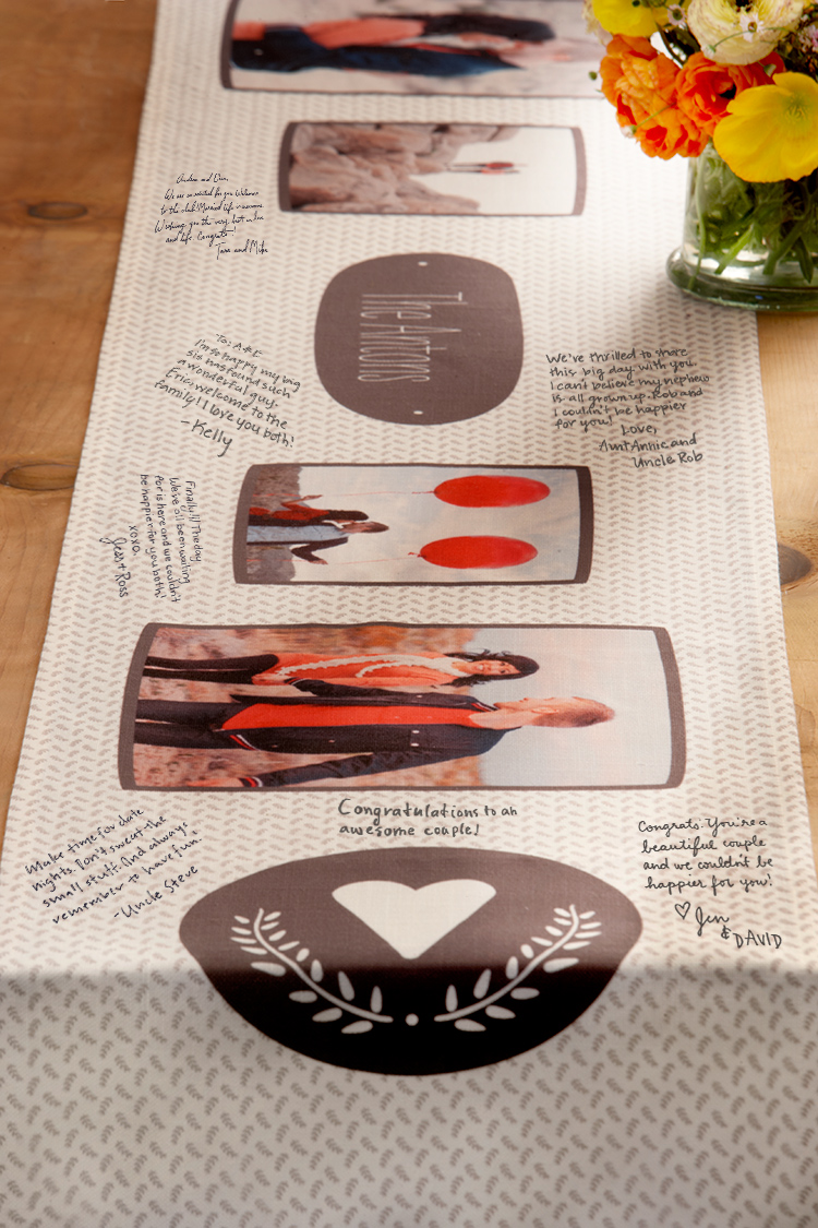 With Shutterfly, you set the table with the photos you love. Personalize a poly-blend table runner with favorite photos.
