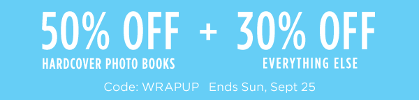 Save up to 50% on photo books