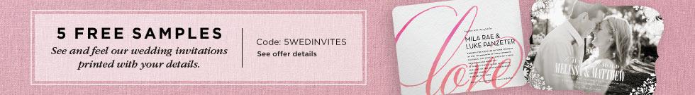 5 free wed invites