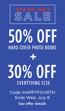 50% off hardcover books + 30% off everything