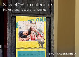 Save 40% on calendars
