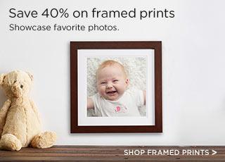 Save 40% on framed prints