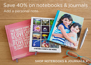 Save 40% on notebooks & journals