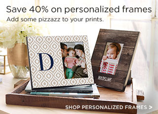 Save 40% on personalized frames