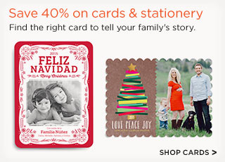 Save 40% on cards & stationery