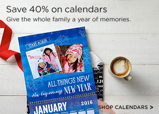Save 40% on calendars - Shop Calendars