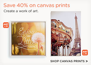 Save 40% on canvas prints - Shop Canvas Prints