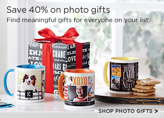Save 40% on photo gifts - Shop Photo Gifts