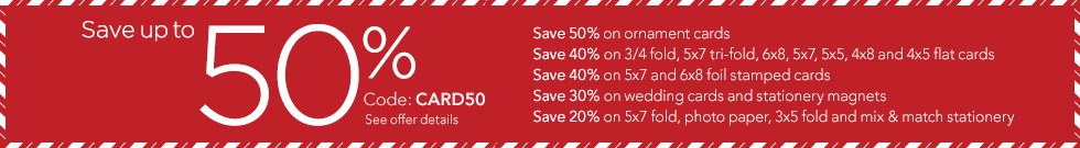 save up to 50% on cards
