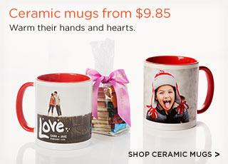 Ceramic mugs from $9.85