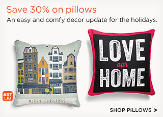 Save 30% on pillows