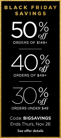 save 50%, 40%, or 30% on cards